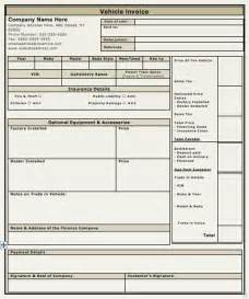 car sales invoice template free vehicle sales invoice template free invoice templates