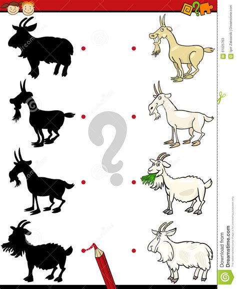 Shadows Task With Goat Stock Vector Image Of Mental