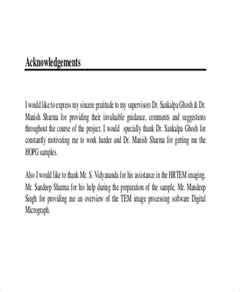 Acknowledgement Letter Sle For Project 12 Acknowledgement Report Sles Free Premium Templates