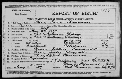 Birth Records Illinois Cook County Birth Certificate Halflifetr Info