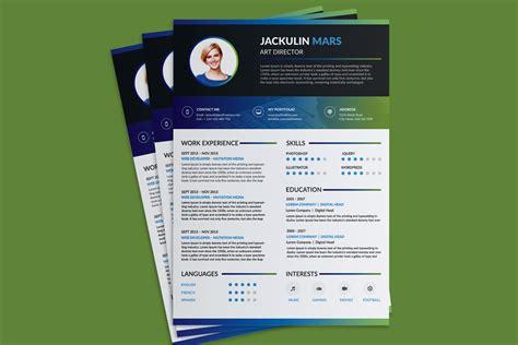 Beautiful Resume (CV) Design Template Free PSD File   Good
