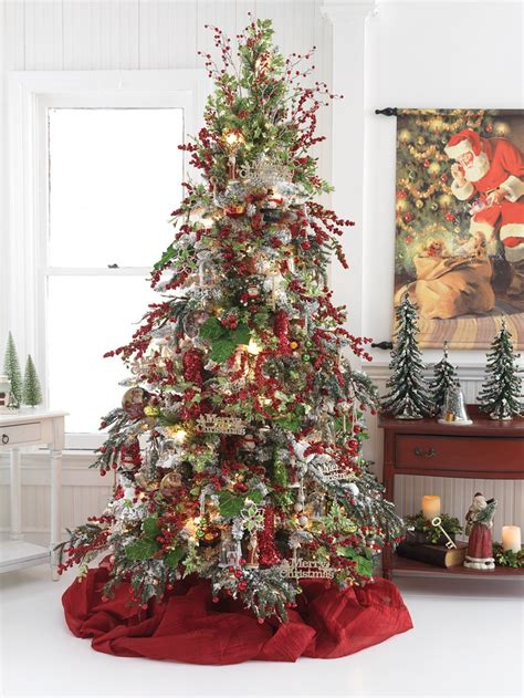 christmas tree with snow and berries tree berries and snow trees and decor