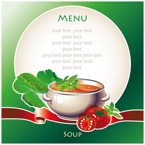soup template creative soup menu cover vector free free