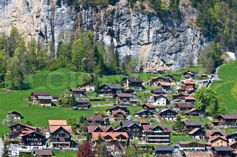 small villages small village in swiss alps stock photo colourbox