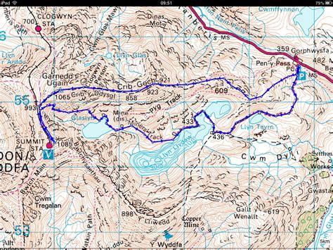 Snowdon Crib Goch Route by Sdb Wanderings Crib Goch Snowdon