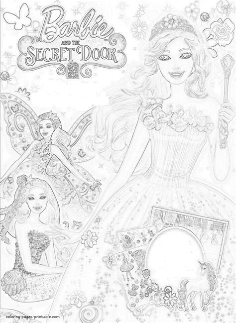Coloring Pages Of Barbie And The Secret Door | drawn barbie barbie and the secret door pencil and in