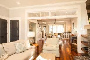 Historic whole house renovation living room craftsman living room