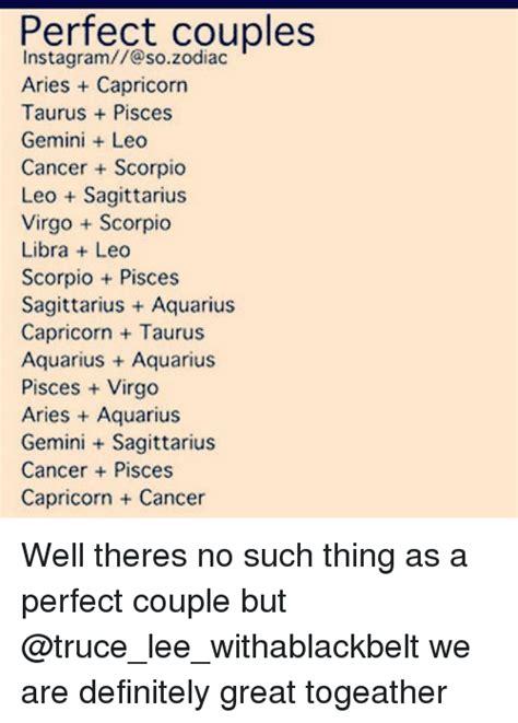 perfect couples instagram so zodiac aries capricorn taurus