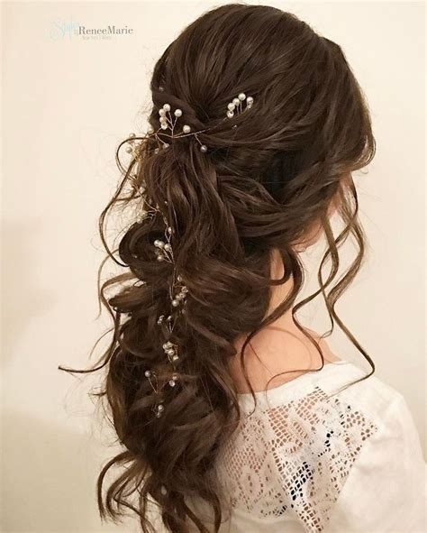 Wedding Bridesmaid Hairstyles Half Up by Half Up Half Bridal Hairstyle Get Inspired By