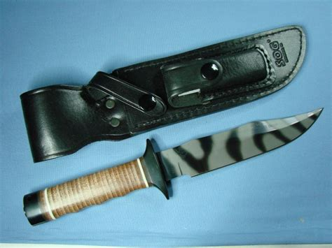 sog s1 bowie sog knives collectors s1 bowie tigerstriped