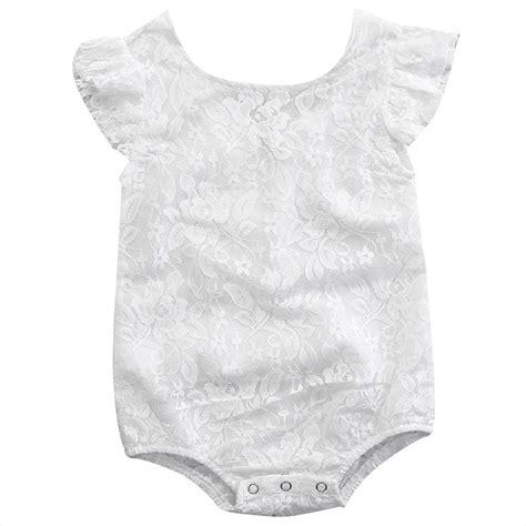 Newborn Infant Baby Lace Romper Bodysuit Jumpsuit Sunsui 2017 newborn baby summer rompers infant baby cotton lace romper sleeveless white jumpsuit