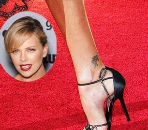 charlize theron tattoo for designs photos charlize theron ankle