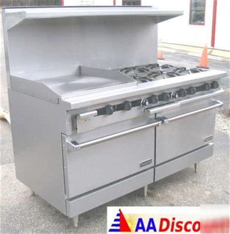 "new therma tek 60"" gas range 2 oven 10 burner stove dcs"