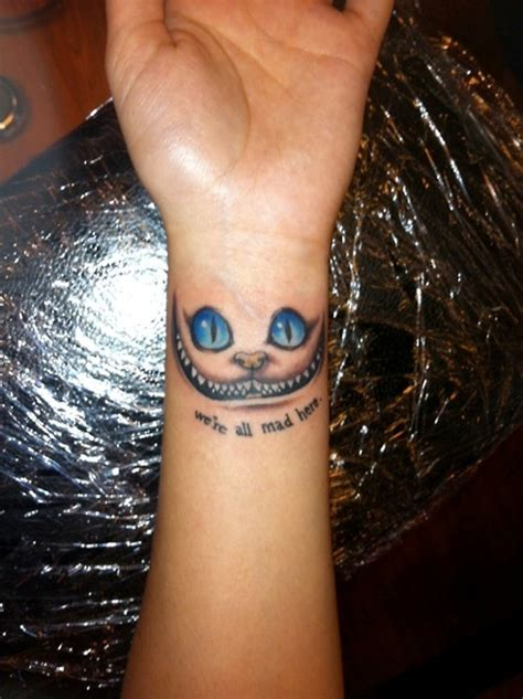 cheshire cat tattoo 41 all around wrist tattoos