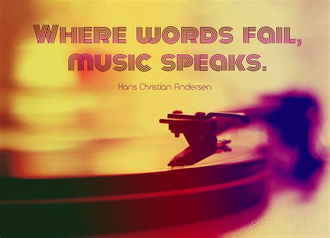 Design Wall Stickers quote of the week where words fail music speaks