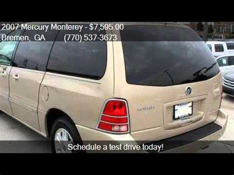 how cars engines work 2007 mercury monterey navigation system 2007 mercury monterey luxury 4dr mini van for sale in bremen youtube