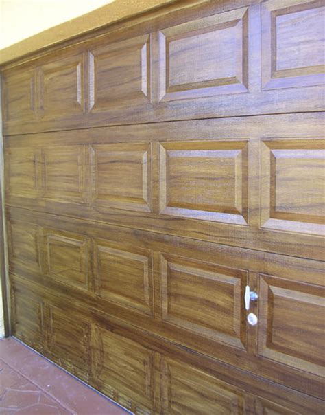 faux wood grain fiberglass garage door kristin currier