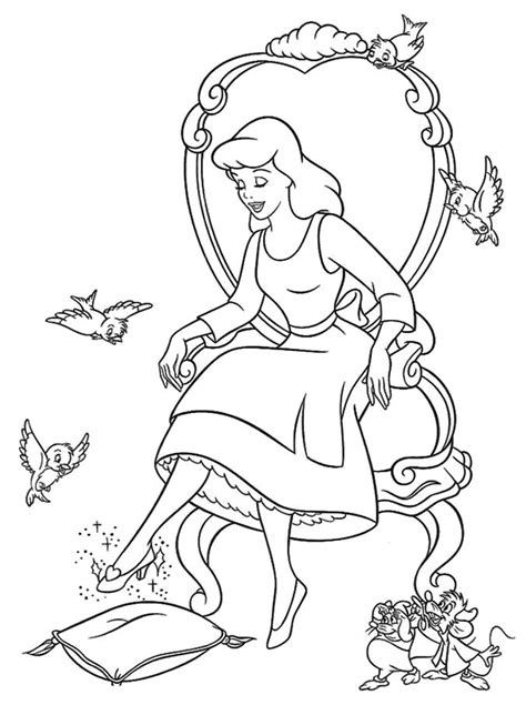 coloring pages of cinderella glass slipper cinderella painting az coloring pages