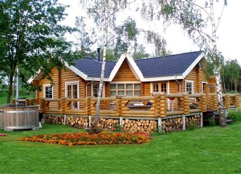 Building Eco Wooden House Round Logs Wooden Houses | building eco wooden house round logs wooden houses