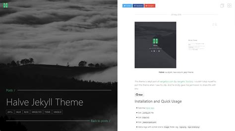 jekyll themes for github pages halve jekyll theme taylan tatlı