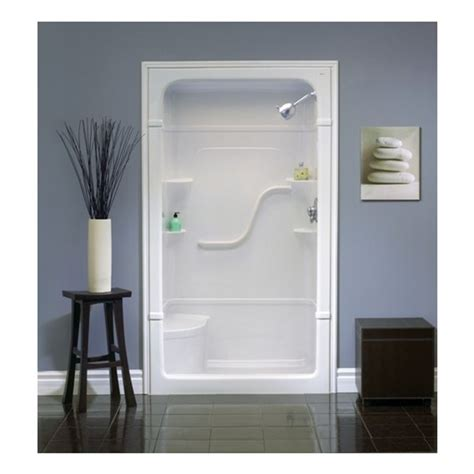 Mirolin Shower Door Installation Mirolin 50 In W X 34 25 In L X 84 5 In H White Acrylic Shower Wall Surround Side And