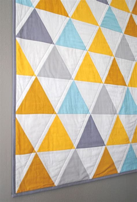 How To Quilt Triangles by Equilateral Triangles Crib Quilt