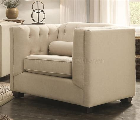 couch cairns cairns sofa in oatmeal fabric 504904 by coaster w options