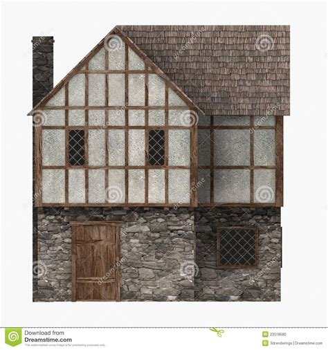 building house with side views medieval building common house side view stock photo image 23518580