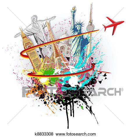 clipart mondo clip of world tour k8833308 search clipart