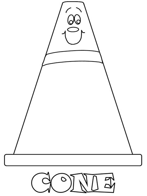 printable cone construction coloring pages