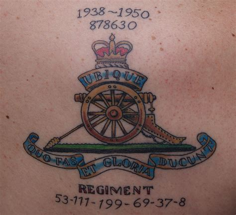 artillery tattoos
