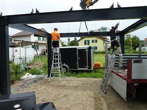 carport mit geräteraum der traum vom haus carport und terrassenaufbau stahlbau