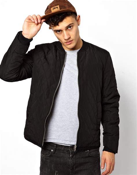 Jaket Bomber Black lyst dr denim bomber jacket in black for