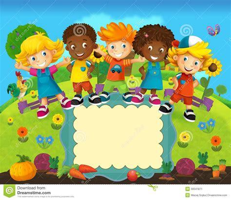 imagenes niños de preescolar el grupo de ni 241 os preescolares felices ejemplo colorido