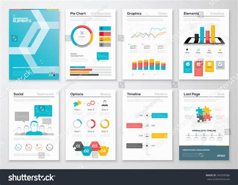infographic brochure template infographic flyer brochure designs web templates stock