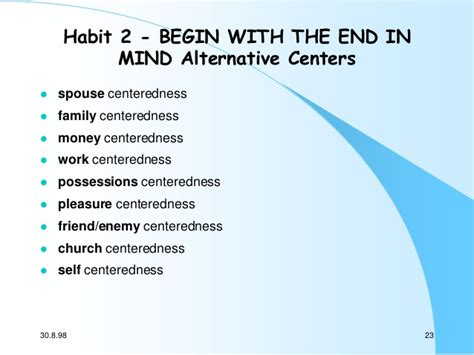 with the end in mind dying and wisdom in an age of books stephen covey s 7 habits of highly effective