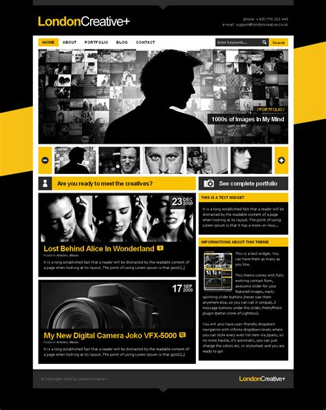theme wordpress blog themeforest london creative portfolio blog wp theme by freshface