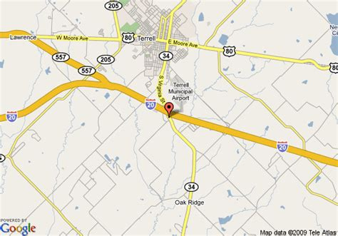 terrell texas map map of la quinta inn terrell terrell