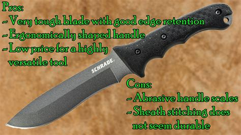schrade sch9 blade of all trades schrade schf9 survival knife review