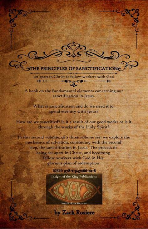 principles  sanctification set   christ
