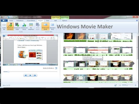 tutorial windows movie maker version 6 0 movie maker 2 6 tutorial downloading effects and trans