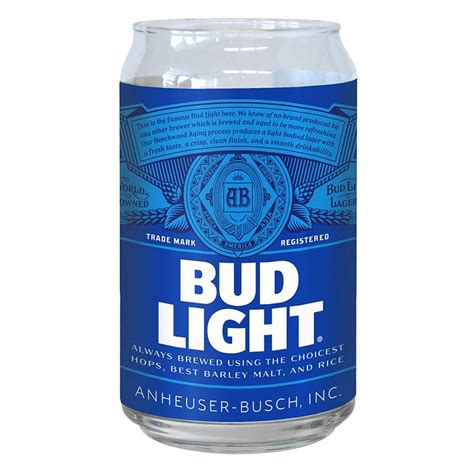 bud light can bud light can shaped glass