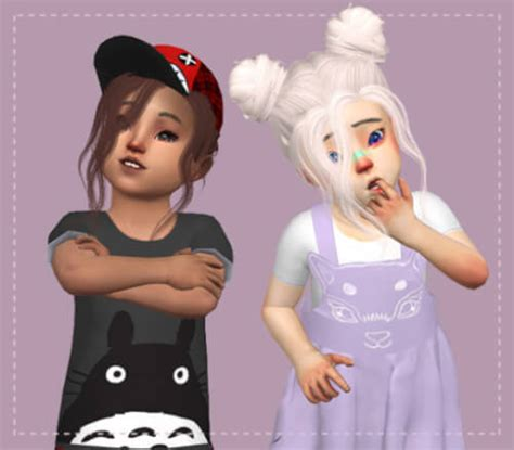 sims 4 toddler cc spring4sims toddler nevaeh hair conversion for the sims 4