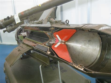 tank section a anti tank missile cutaway in the military museum of the