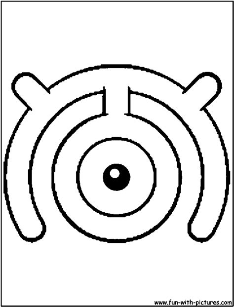 unown pokemon coloring pages unown m coloring page