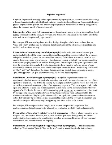 sles essay sles of an argumentative essay 28 images argumentative