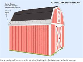 how to install the gambrel shed roof shingles