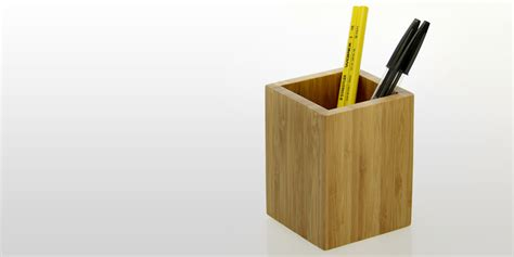 Ceramic Kitchen Knives Pen Holder Pencil Pot Bamboo Office Supplies