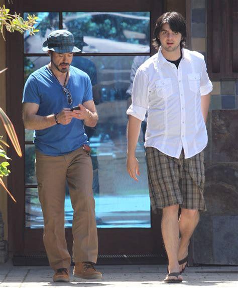 robert downey jr house robert downey jr leaving a friends house zimbio