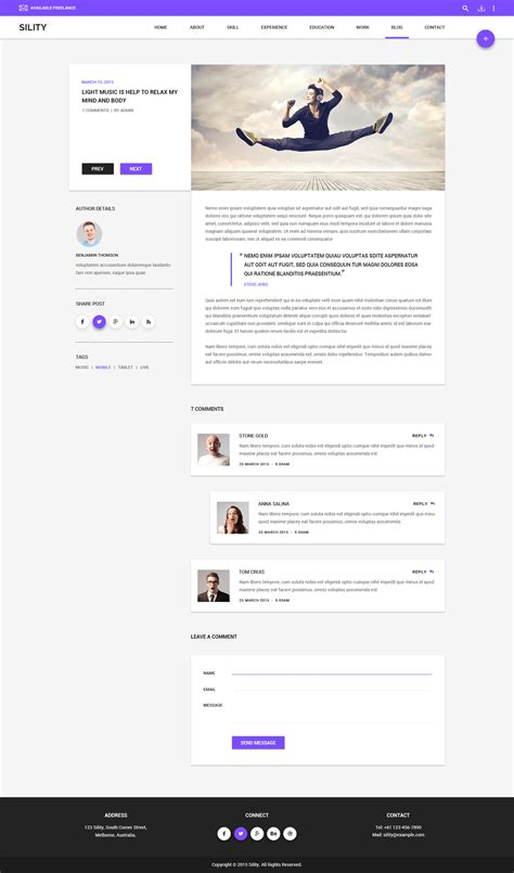 sility vcard cv resume html template free sility vcard cv resume html template by wpmines themeforest